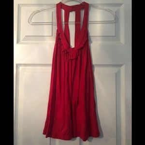 Splendid red flowy tank top